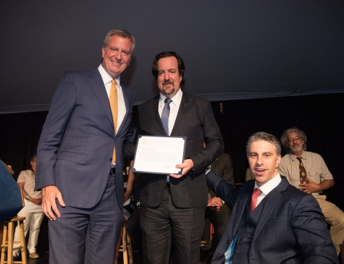 CityMouse, Inc. receives the 2017 TITLE IV ADA Sapolin Telecommunication Award from Mayor Bill de Blasio